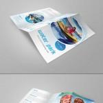 三折叠宣传册设计样机贴图PSD展示素材下载