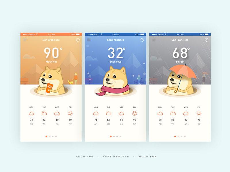 产品汪Doge卡通形象设计app