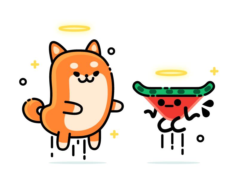 快乐开心的doge卡通形象设计