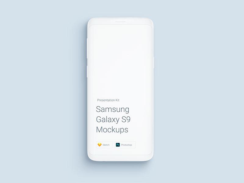 安卓手机样机模型素材—Samsung-Galaxy-S9-Mockups