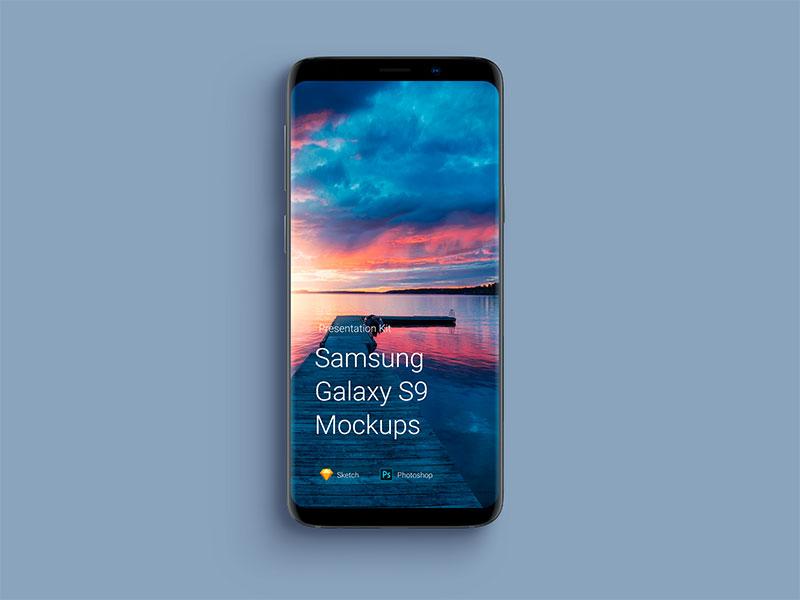 安卓手机样机模型素材—Samsung-Galaxy-S9-Mockups2