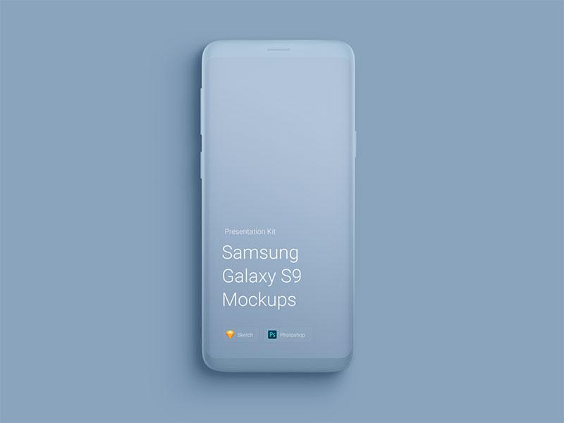 安卓手机样机模型素材—Samsung-Galaxy-S9-Mockups222