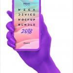 手持iphone X、iphone8和三星Galaxy S8的样机全套模板