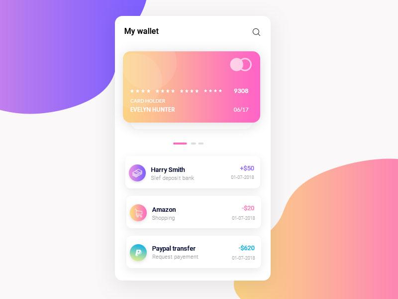 app钱包页面