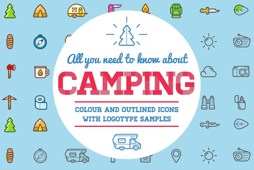 Camping Color and Outlined Icons with Logotypes-5.jpg