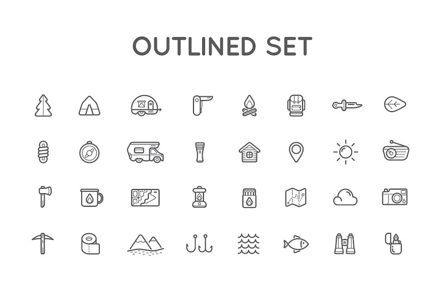 Camping Color and Outlined Icons with Logotypes-2.jpg