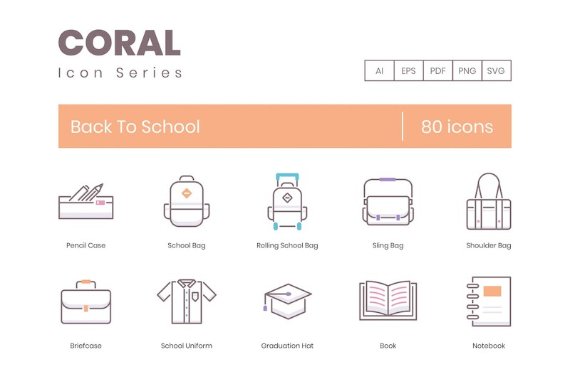 80 Back To School Icons | Coral Series (smooth)-4.jpg