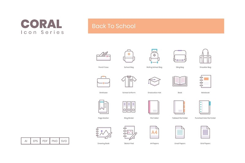 80 Back To School Icons | Coral Series (smooth)-3.jpg