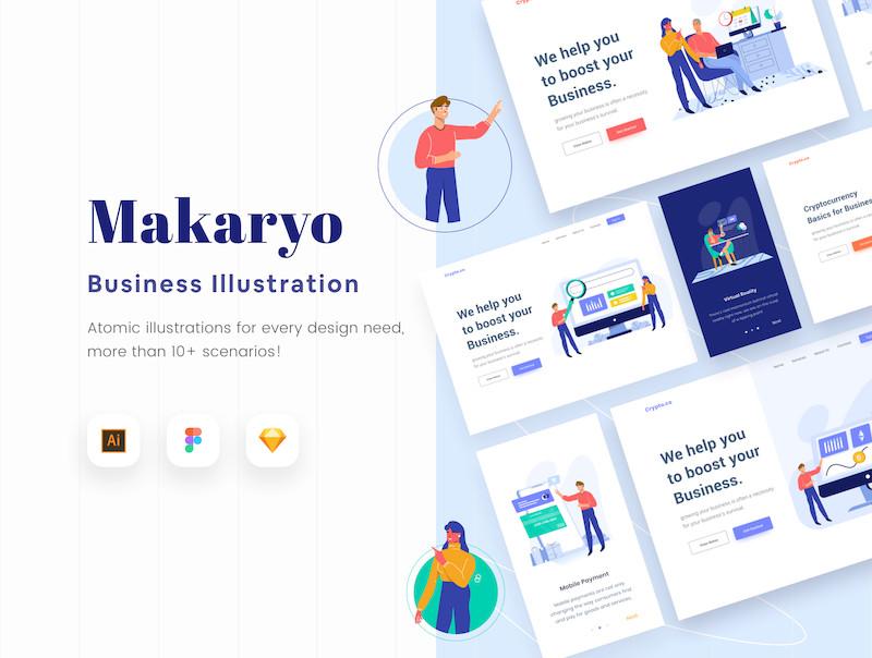 Makaryo Start up Website E Commerce Illustration 3.jpg