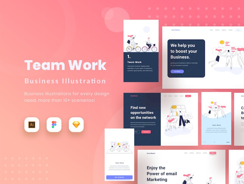 Teamwork - Start up Website Teamwork Illustration-2.jpg