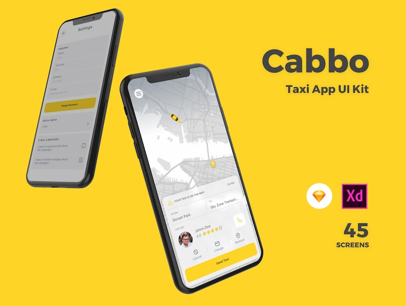 Cabbo - Taxi Ui Kit Mobile App-1.jpg