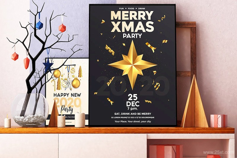 Set of 16 Christmas and Happy New Year Party Flyer-2.jpg