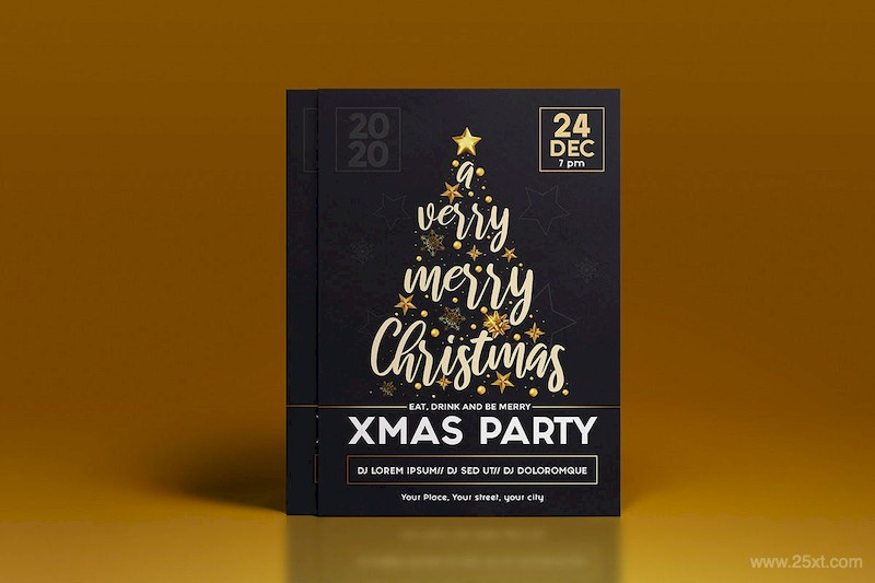 Set of 16 Christmas and Happy New Year Party Flyer-5.jpg