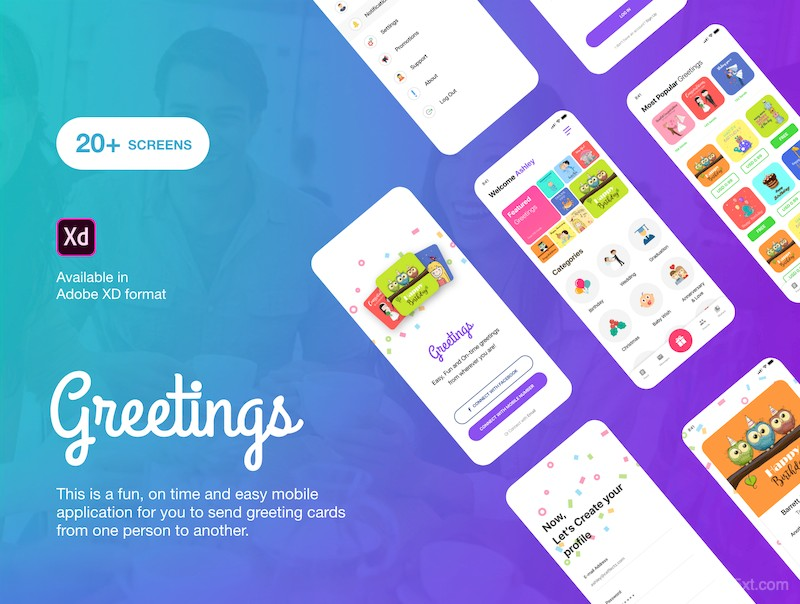 Greetings - Mobile Application UI Kit-1.jpg