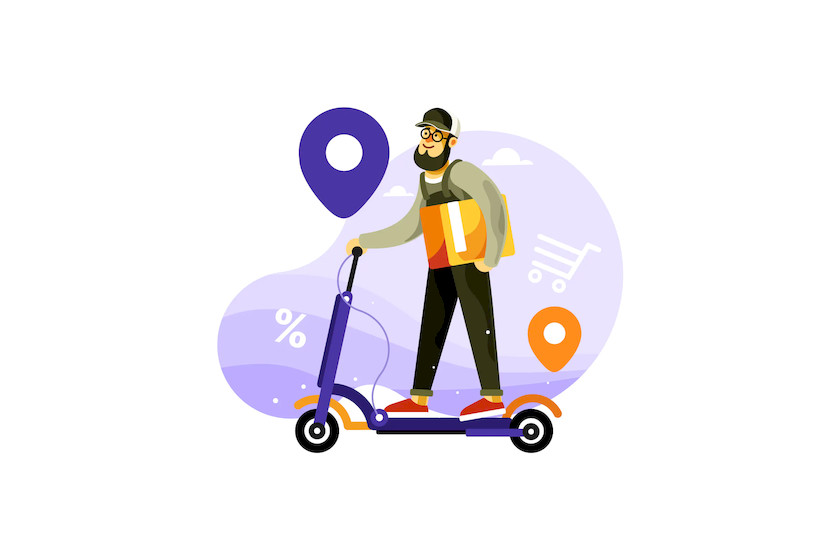 Delivery Courier Riding Electric Scooter.jpg