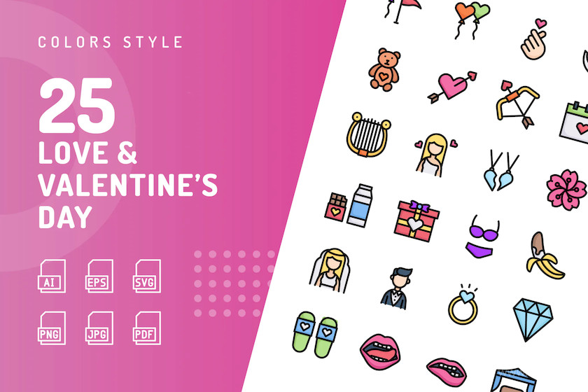 Love & Valentine's Day Color Icons 1.jpg
