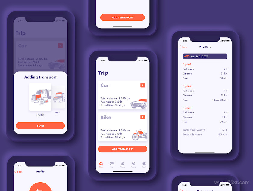 UI Kit for fuel tracker and parking app 4.jpg