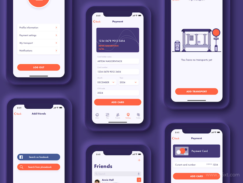 UI Kit for fuel tracker and parking app 6.jpg
