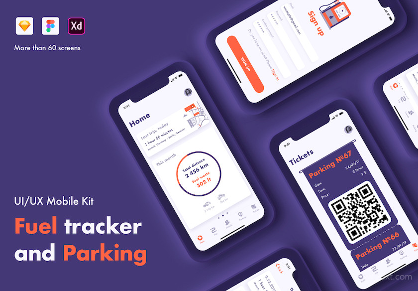 UI Kit for fuel tracker and parking app 2.jpg