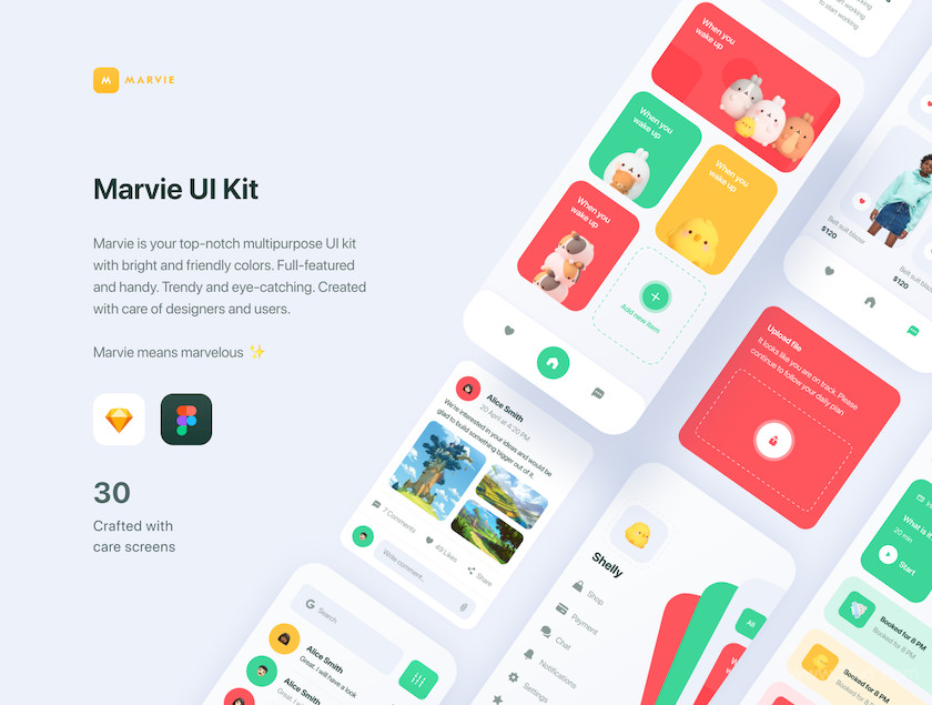 483586 Marvie iOS App UI Kit2.jpg