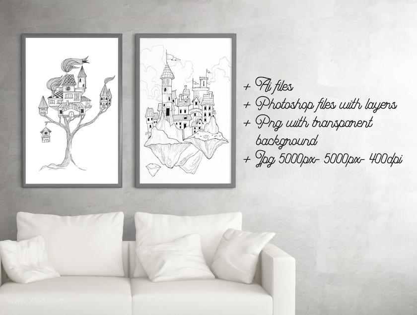 25xt-484132 Happy House Doodle Art11.jpg
