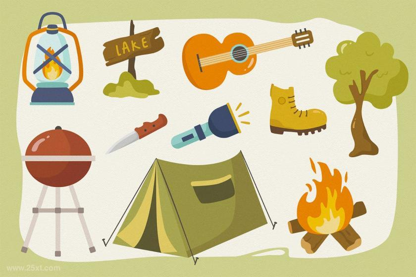 25xt-484171 Summer Camp Vector Clipart Pack	3.jpg