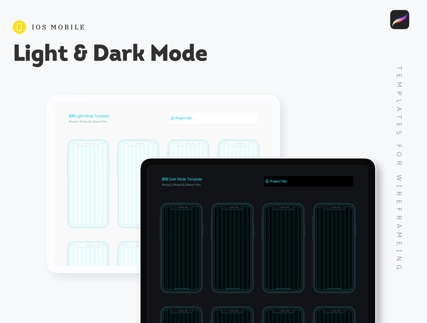 25xt-484701 Procreate - iOs Mobile Templates for Wireframing4.jpg