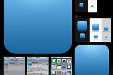 iOS的应用程序图标模板,精确制作iOS App图标