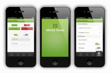一款社会化SNS的iPhone应用程序界面设计模板欣赏
