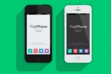 扁平化设计的iPhone5 PSD样机|APP Psd设计素材