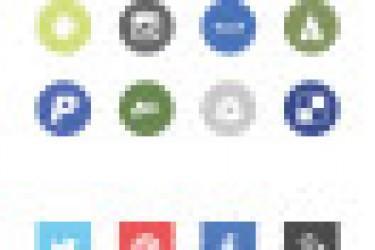 72个FlatUI扁平化设计风格的社会图标EPS