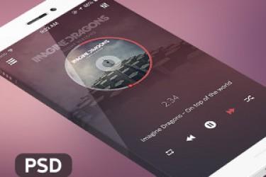 国外App界面设计的透视屏幕原型PSD素材分享