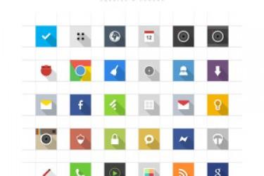 20个免费高清优质的Android icon图标素材大全