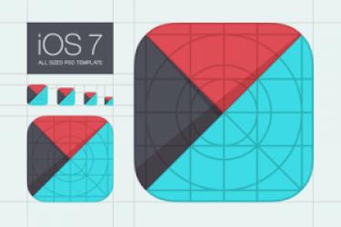 8套免费iOS7应用图标设计模版PSD下载