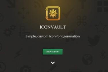 在线生成自定义APP图标字体利器:IconVault