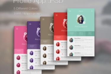 3个iPhone5立体效果的iOS 7App设计(PSD下载)