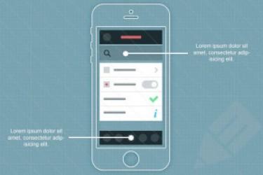 精美的iphone app线框图psd源文件下载