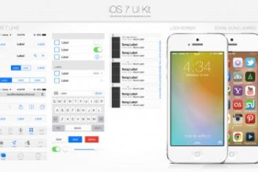 非常棒的iOS 7 UI Kits PSD源文件|APP设计素材
