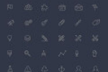 100个免费的APP线性图标素材下载