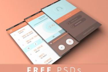 五套实用的APP界面设计模板PSD素材,值得下载