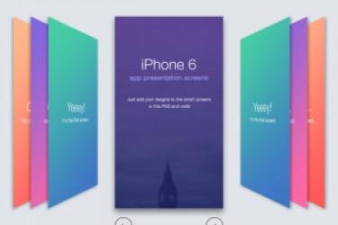 四个精美的手机展示UI和APP设计模板psd下载