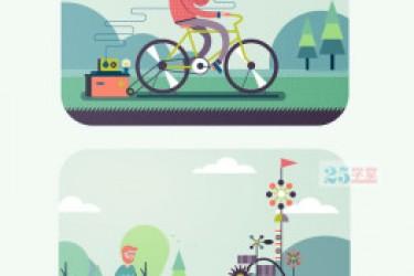 APP插画设计灵感来源酷站—illustrationserved