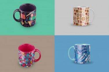 DIY自定义精美的咖啡杯模型PSD素材下载