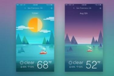 巧用色彩搭配设计APP界面:天气类APP设计欣赏