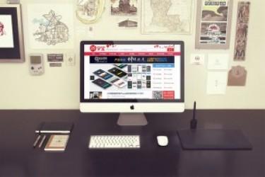 三组高大上的Apple iMac电脑展示模型PSD素材