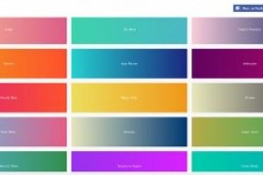 在线生成美丽的渐变颜色,APP配色工具推荐