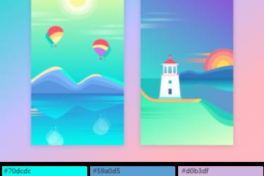最佳设计配色教程:临摹app界面设计色彩搭配