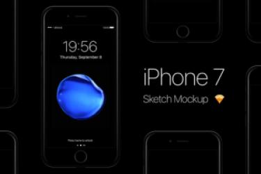 iphone7手机模型PSD和sketch素材下载,赶快收藏吧!