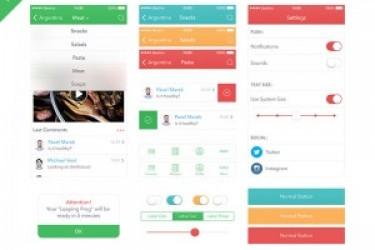 每日APP设计一练:一套App UI Kit PSD素材下载