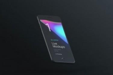 苹果亚光黑系列的iphone7、MAC展示模型素材打包下载